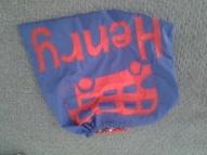 reverse applique PE bag