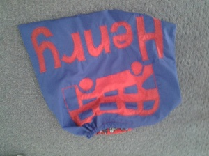 reverse applique PE bag