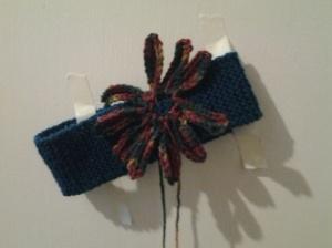 First flower sewn on, centreless