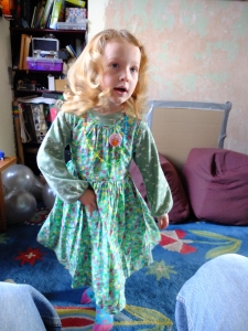 The old (shop bought) birthday dress