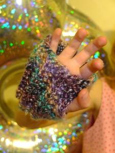 Fingerless mitt