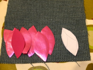 petals cut and ready to go