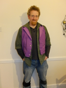waistcoat, styled by model