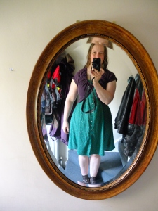 Over my new dress (the chief photographer had already left for work)