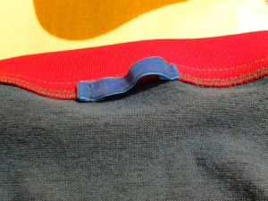 velvet ribbon hanging loop from great grandma's stash