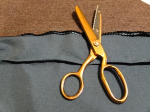 Pinking Shears of Nostalgia (these are very like some we had at home when I was a child that I loved cutting up paper with).