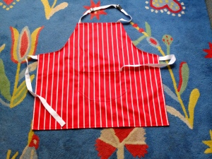 Especially commissioned apron