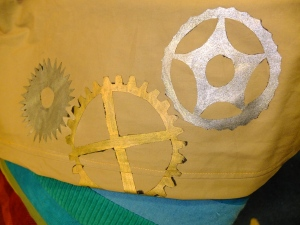 Cog detail for the front right leg