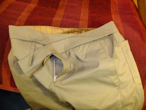 Waistband part attatched (Zip from a bundled I got cheap from)