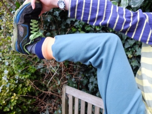 Post run stretching pose