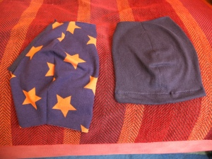 outer and inner front cup pieces (left and right respectively)