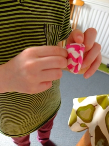 a thimble for a pocket (I'm actually turning the pocket).