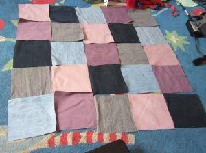 arranging the squares