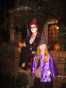 We managed to go trick or treating without any meltdowns! (well, not before hand anyway)