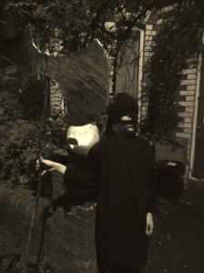 An executioner with his pumpkin