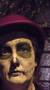 And considering how I feel today I went for a Day of the Dead inspired look